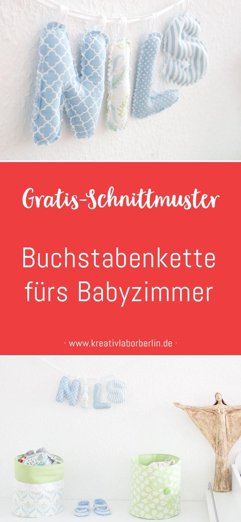 Photo of Kostenlose Nähanleitung mit Schnittmuster für eine Buchstabenkette – Kreativlabor Berlin