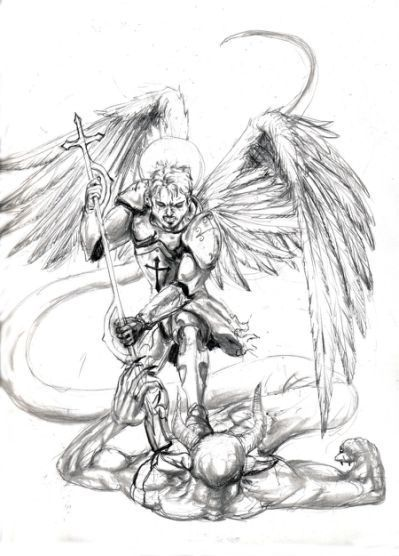 Archangel Michael Tattoo Drawing