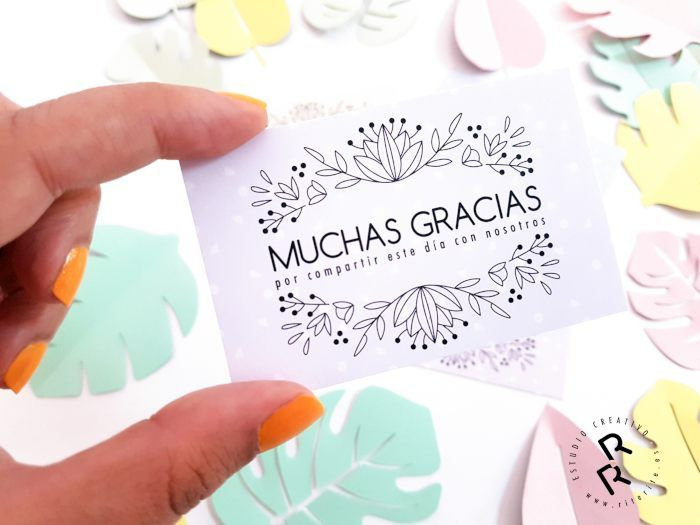 tarjetas agradecimiento para los invitados de tu boda diseñadas por