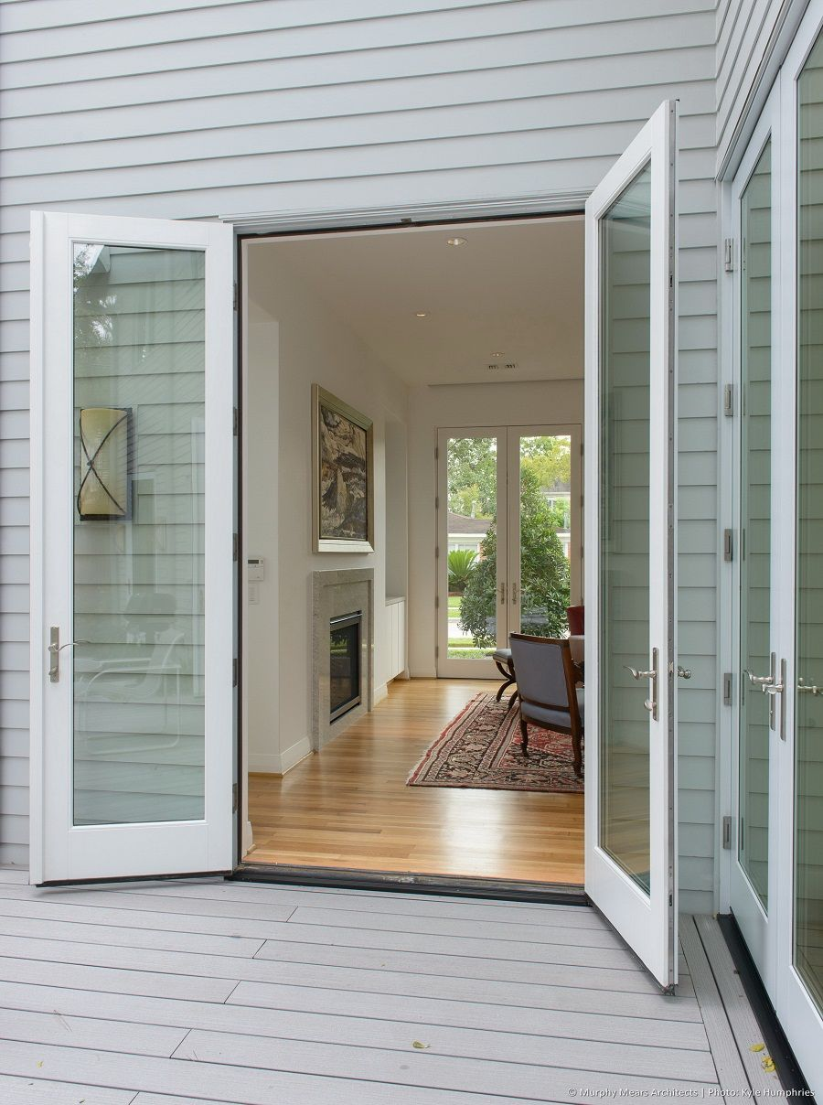Beautiful Exterior Home Design Trends: Exterior Modern French Doors