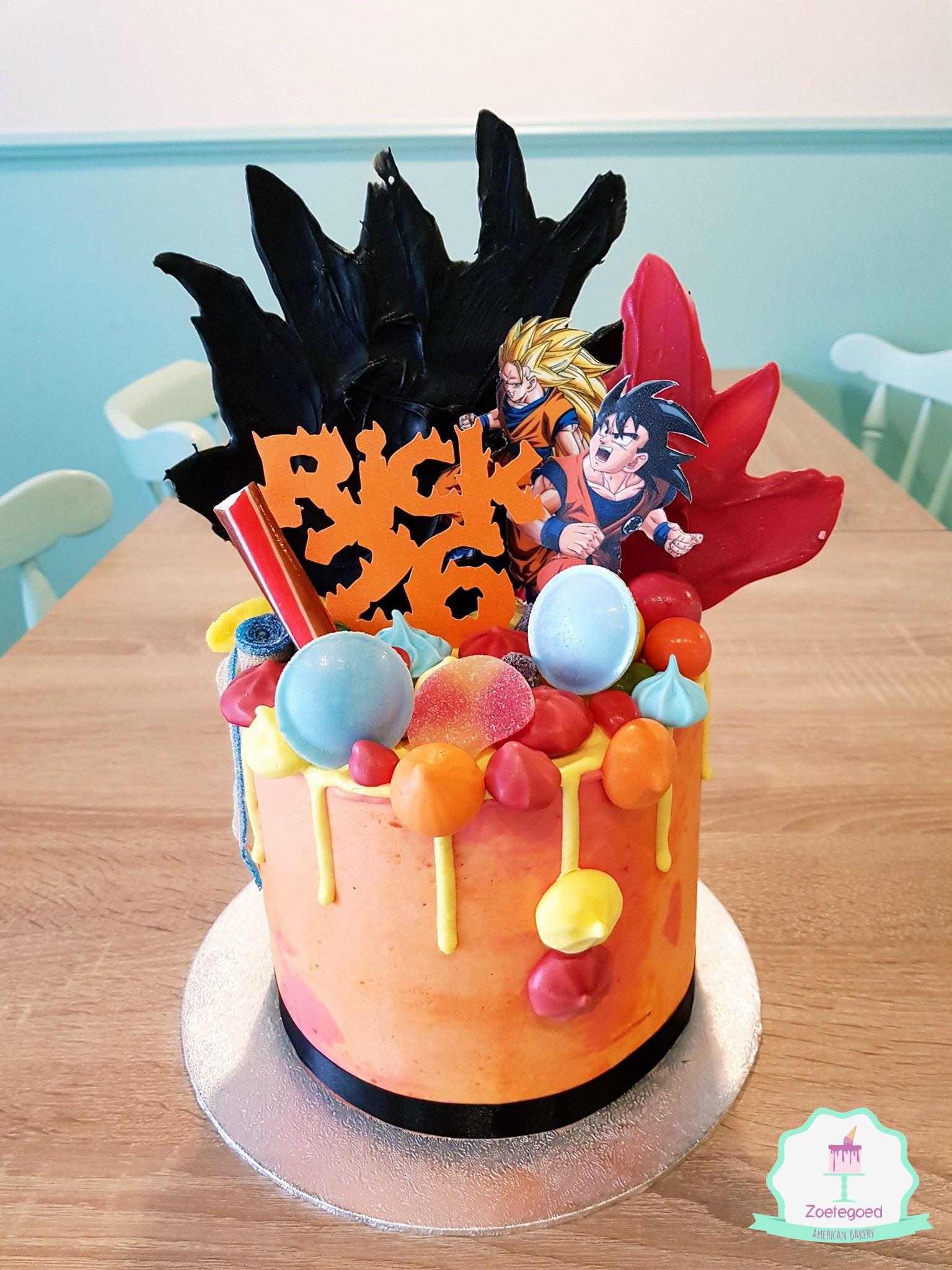 Dragon Ball Z Drip Cake With Images Anime Cake Drip Cakes Cake