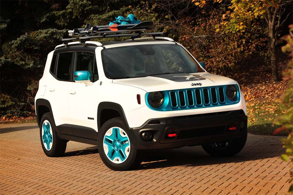 Cool Jeep Renegade White And Blue Jeep Warning Lights And