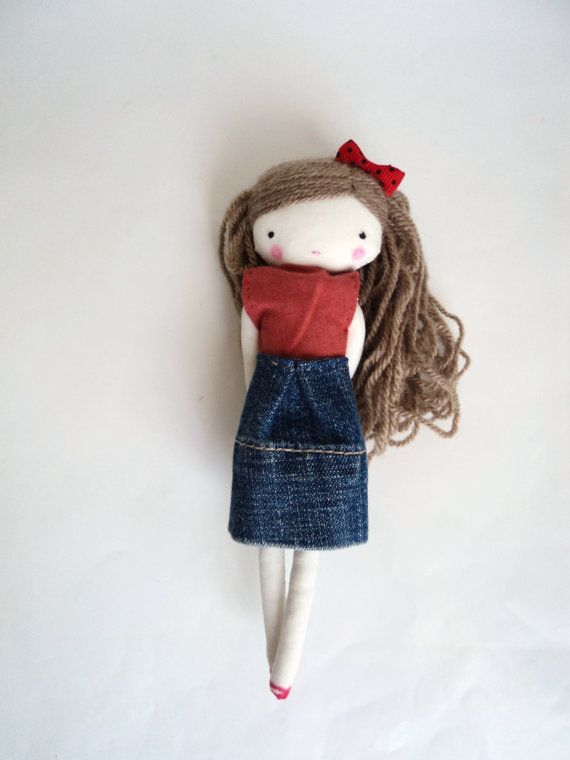 Bella sweet doll blue polka dots by lassandaliasdeana on Etsy