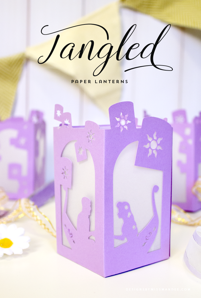 So much cuteness in these Tangled paper lanterns!  How sweet would these be at your next princess party?  Love them!  Let us plan your next Disney trip by requesting a quote at http://destinationsinflorida.com/pinterest  #disneydiy #waltdisneyworld #tangled