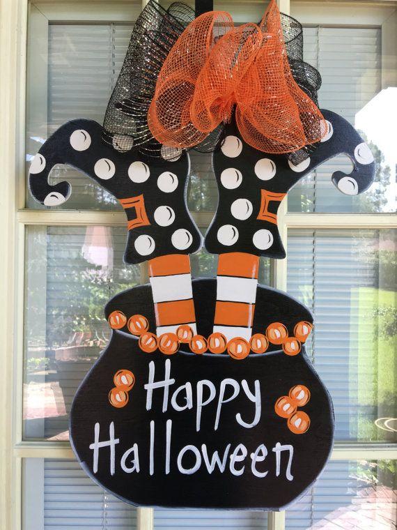 Halloween Door Hanger Front Door Decor Witches Shoes Halloween Door Hangers Halloween Door Halloween Front Door Decorations