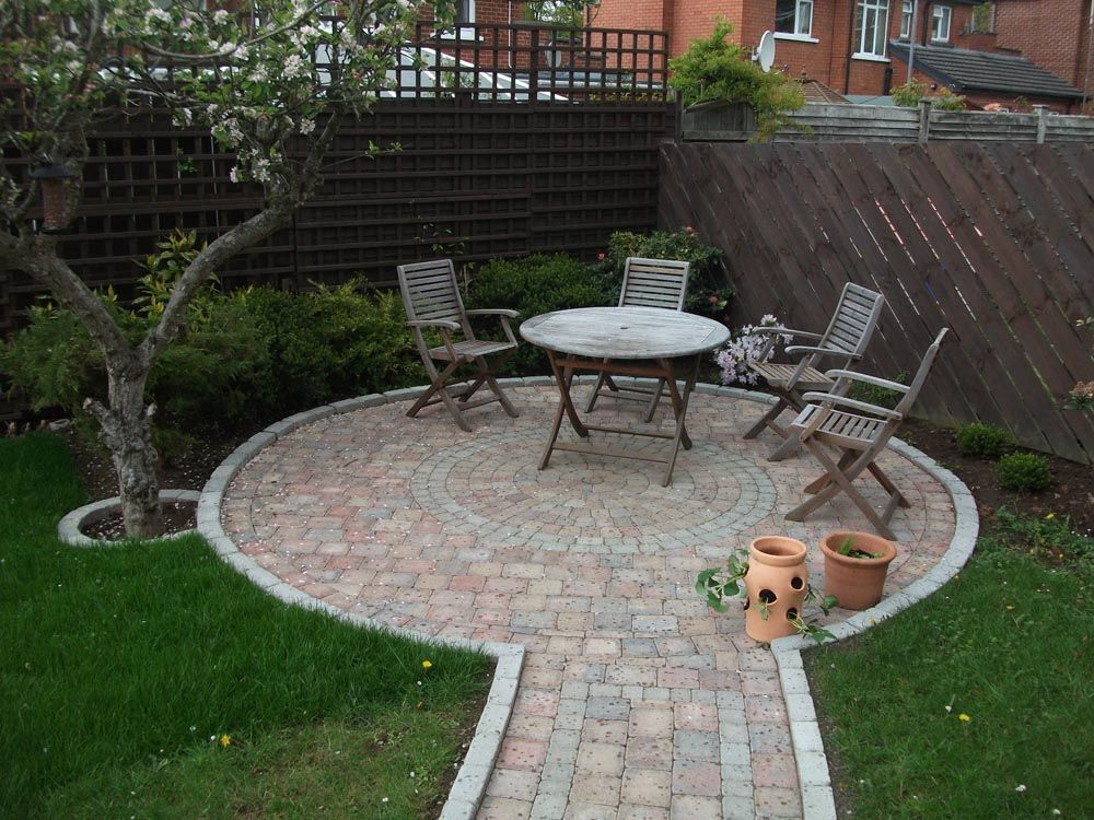 Pictures Of Paths And Patios Yahoo Search Results In 2020 Circular Patio Circle Patio Brick Patios