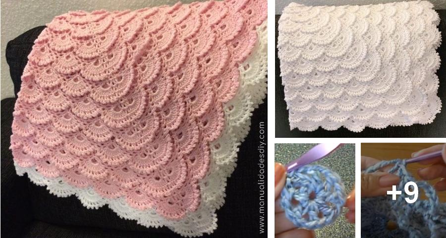 Este tierno afgano, o manta de ganchillo para bebé, será perfecto ...