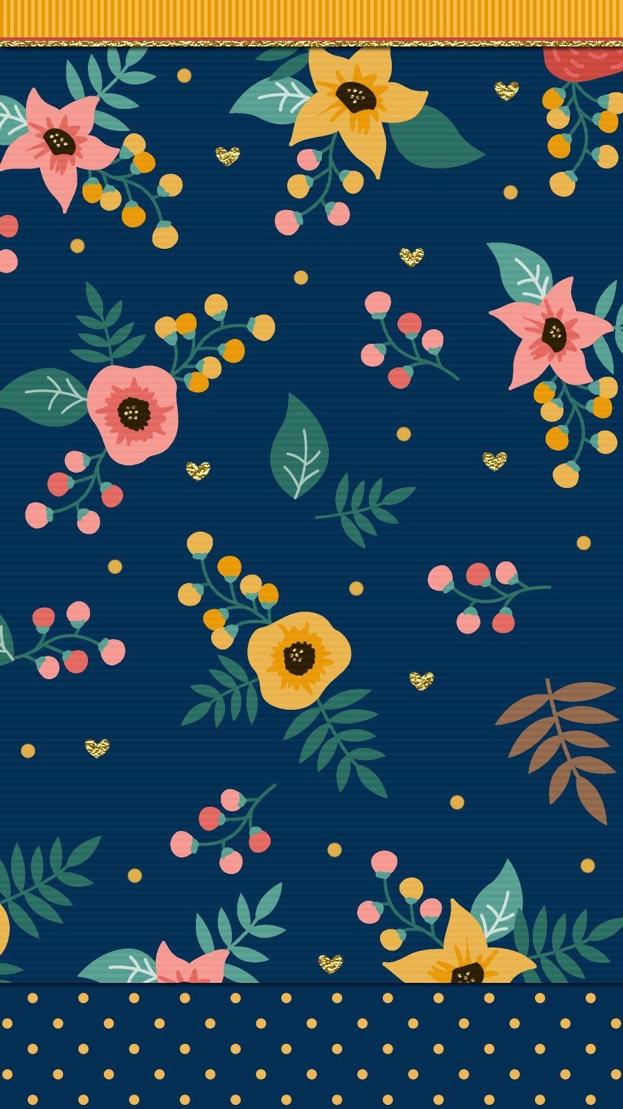 Navy Blue Floral Wallpaper Iphone Floral Wallpaper Iphone Blue Floral Wallpaper New Wallpaper Iphone