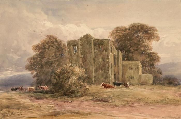 Enlarged Picture: Watercolour - Bardon Tower - Birmingham Museums & Art Gallery Information Centre
