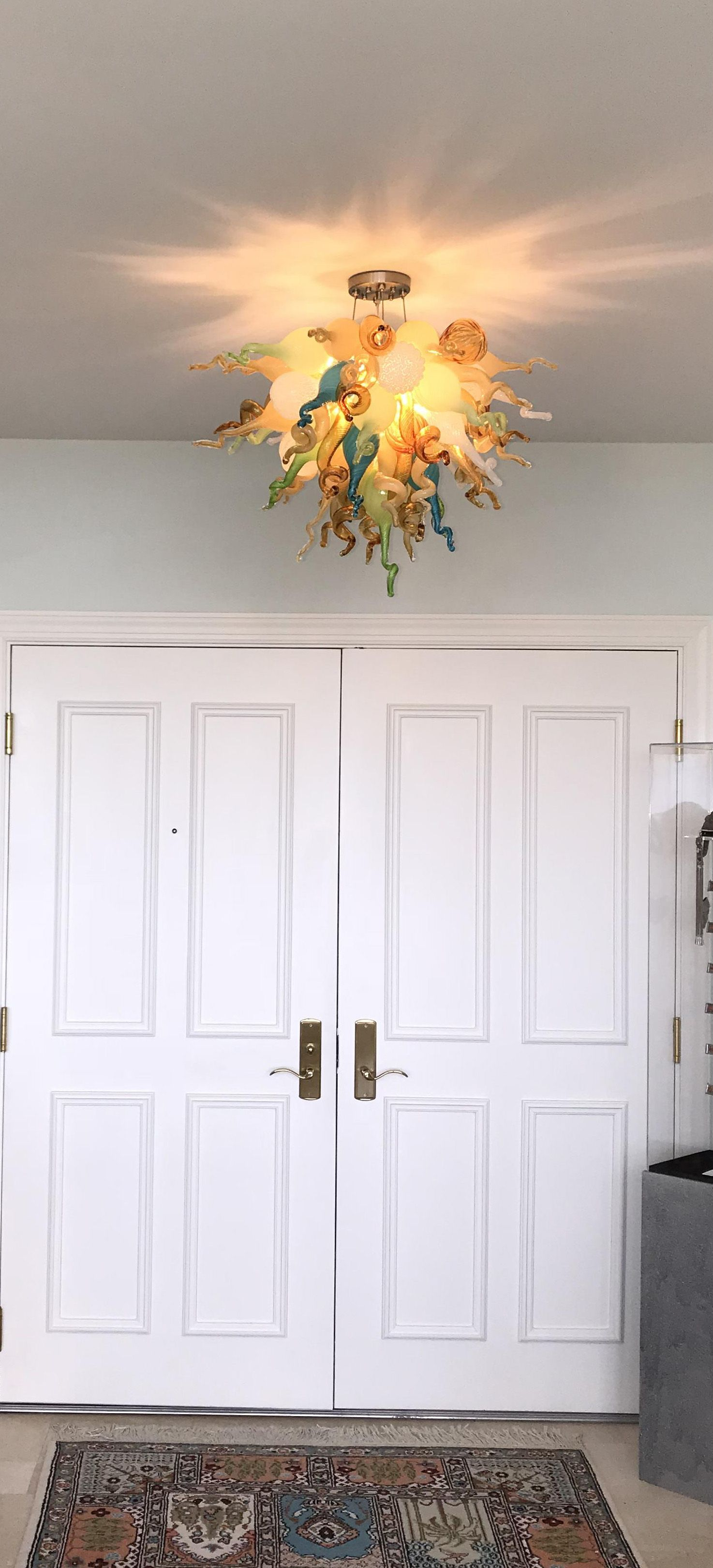 1020 Gl Art S Mini Sandy Cove Chandelier Installed In A Residence Florida