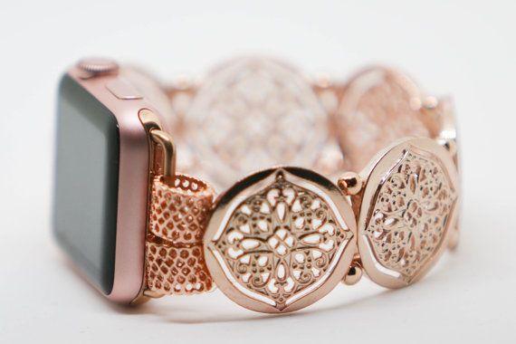 Women S Apple Watchband 38mm 40mm 42mm Rose Gold38mm Etsy Rose Gold Apple Watch Apple Watch Fashion Apple Watch Bands