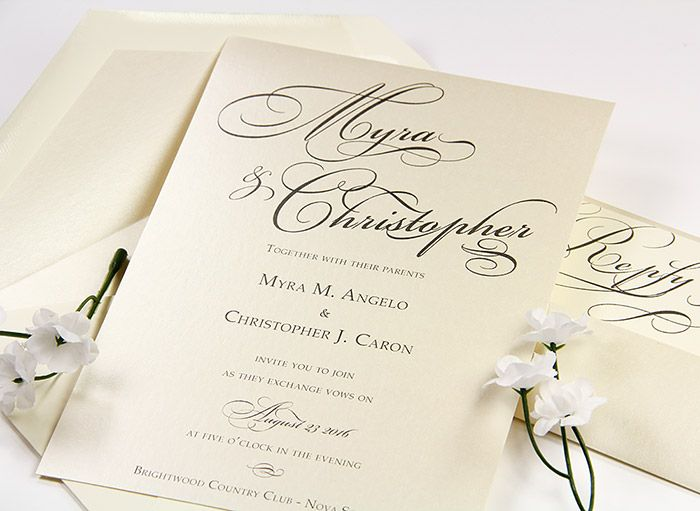stardream opal invitation with matching opal lined envelope so in