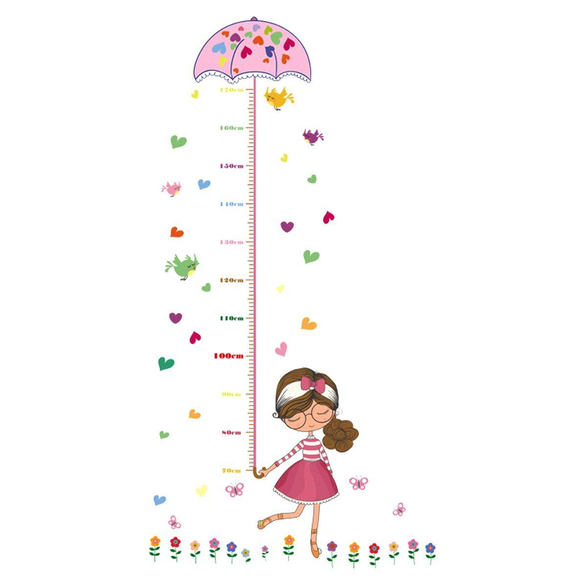 Uniquebella pvc height measurement growth chart for child kid uniquebella pvc height measurement growth chart for child kid removable nursery wall art decals stickers cartoon nvjuhfo Images