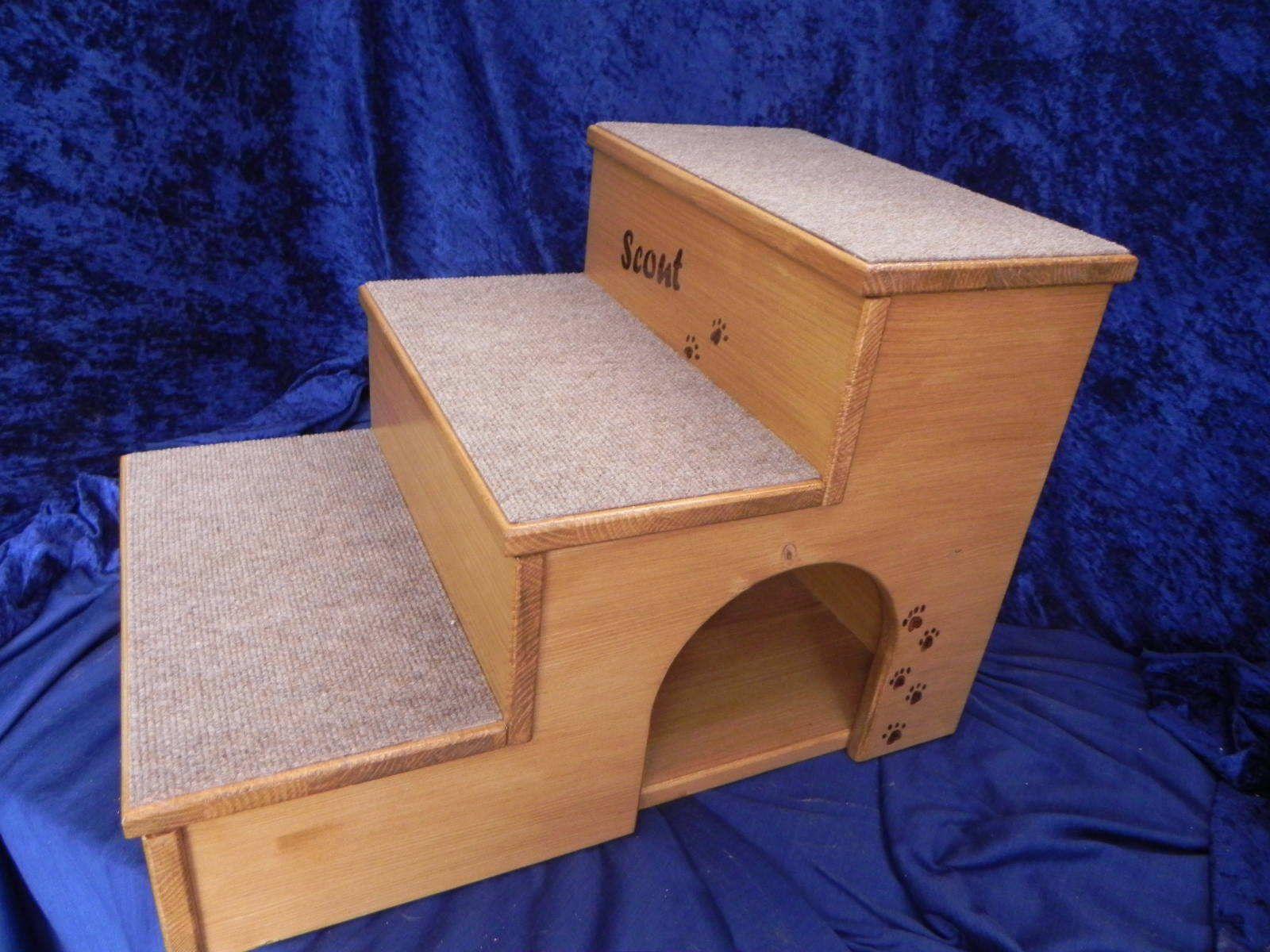 qualit ts hundetreppe mit integrierter kuschelh hle in allen farben lieferbar ebay basteln. Black Bedroom Furniture Sets. Home Design Ideas