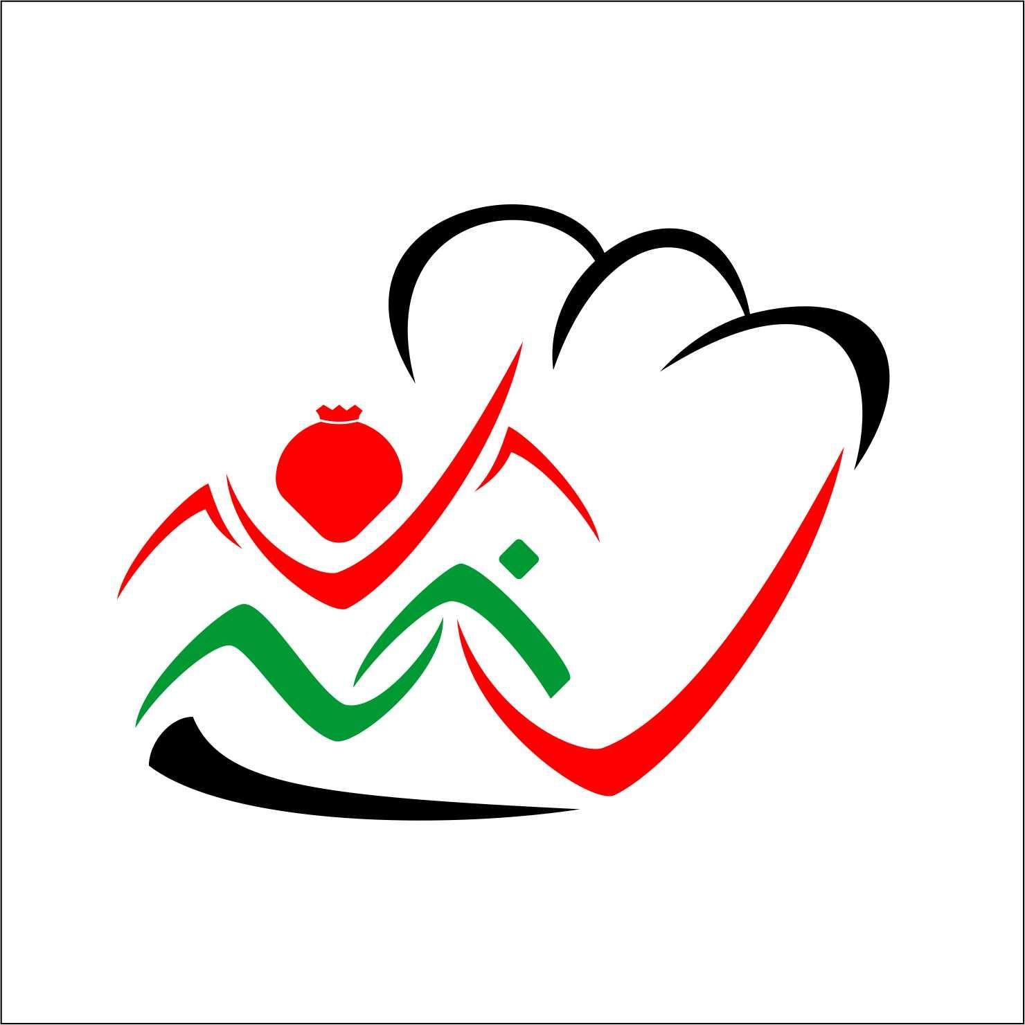 Desain Logo:  Desain Logo Delima Catering, Dengan Aksara Lontara