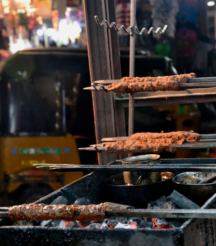 Excellent beef sheekh kebabs in Old City, Hyderabad Food