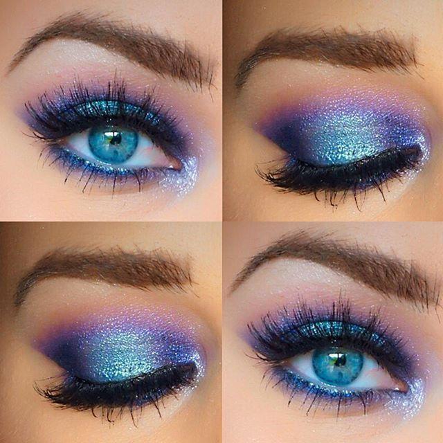 Photo of Blue and purple eye makeup,  #Blue #Eye #Makeup #Purple
