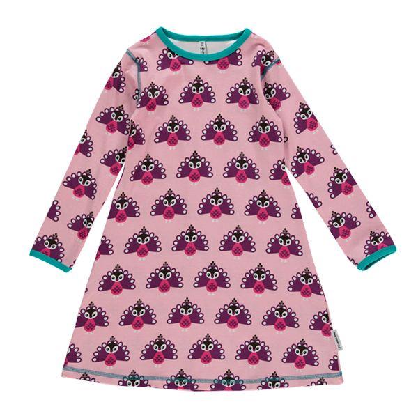 Maxomorra Fawn Print Spin Dress Organic Cotton Scandi