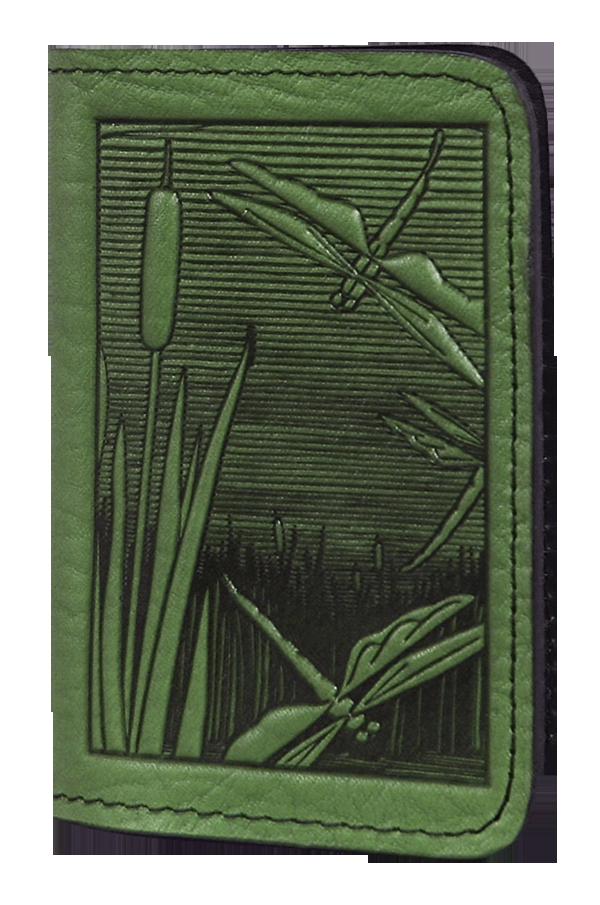 Leather Card Holder | Dragonfly Pond | 2 Colors | Dragonflies, Pond ...