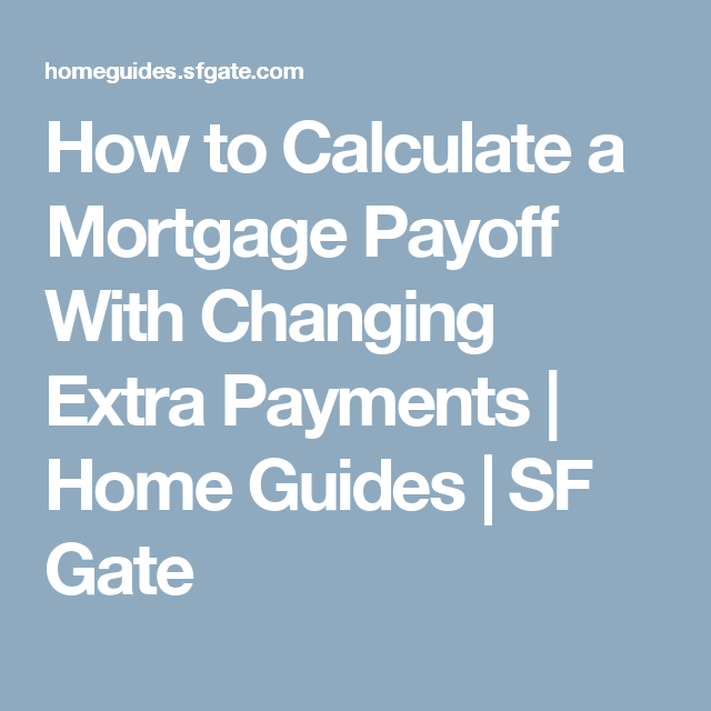 how to calculate a mortgage payoff with changing extra payments