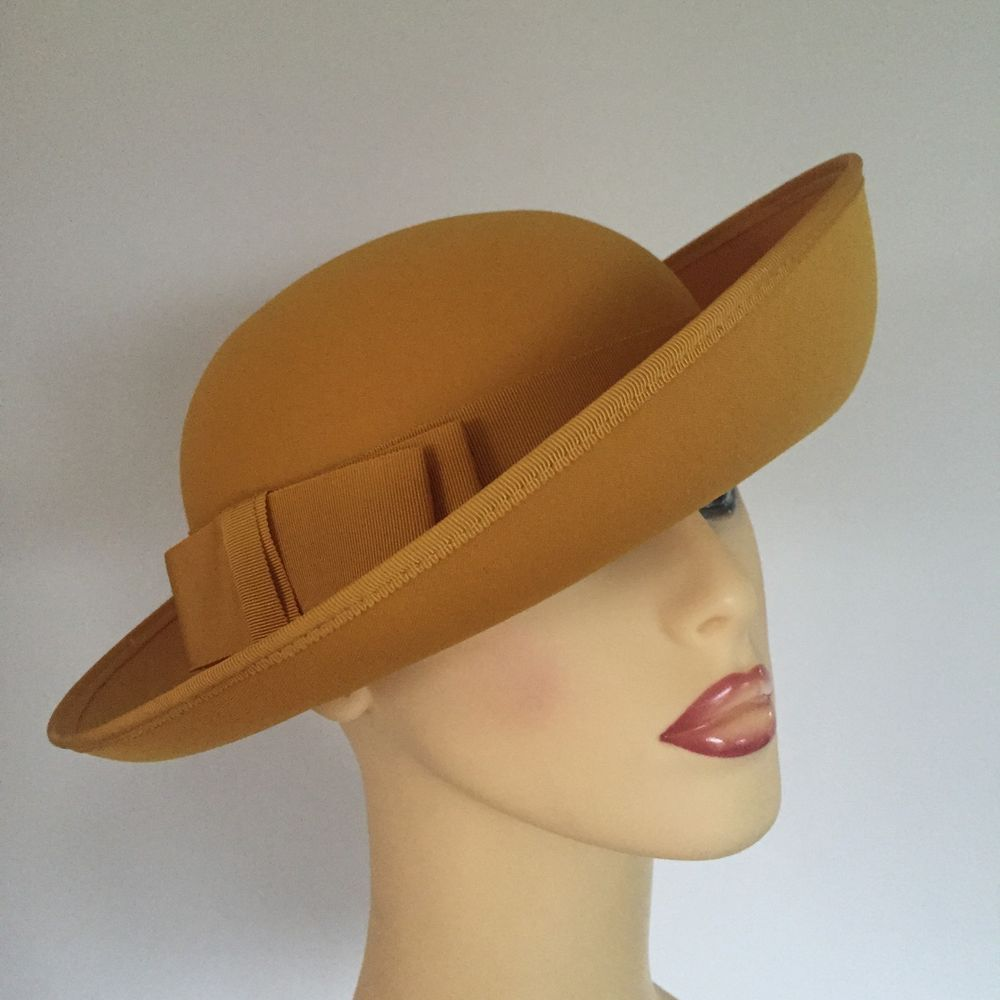 Ladies Wedding Races Mother Bride Hat Mustard Yellow By Kangol ... 2f5599df6a0