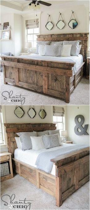 21 DIY Bed Frame Projects U2013 Sleep In Style And Comfort   DIY U0026 Crafts. Diy  BettkopfteilSelbstgemachte BettrahmenBett KopfteileBettgestelleBett ...