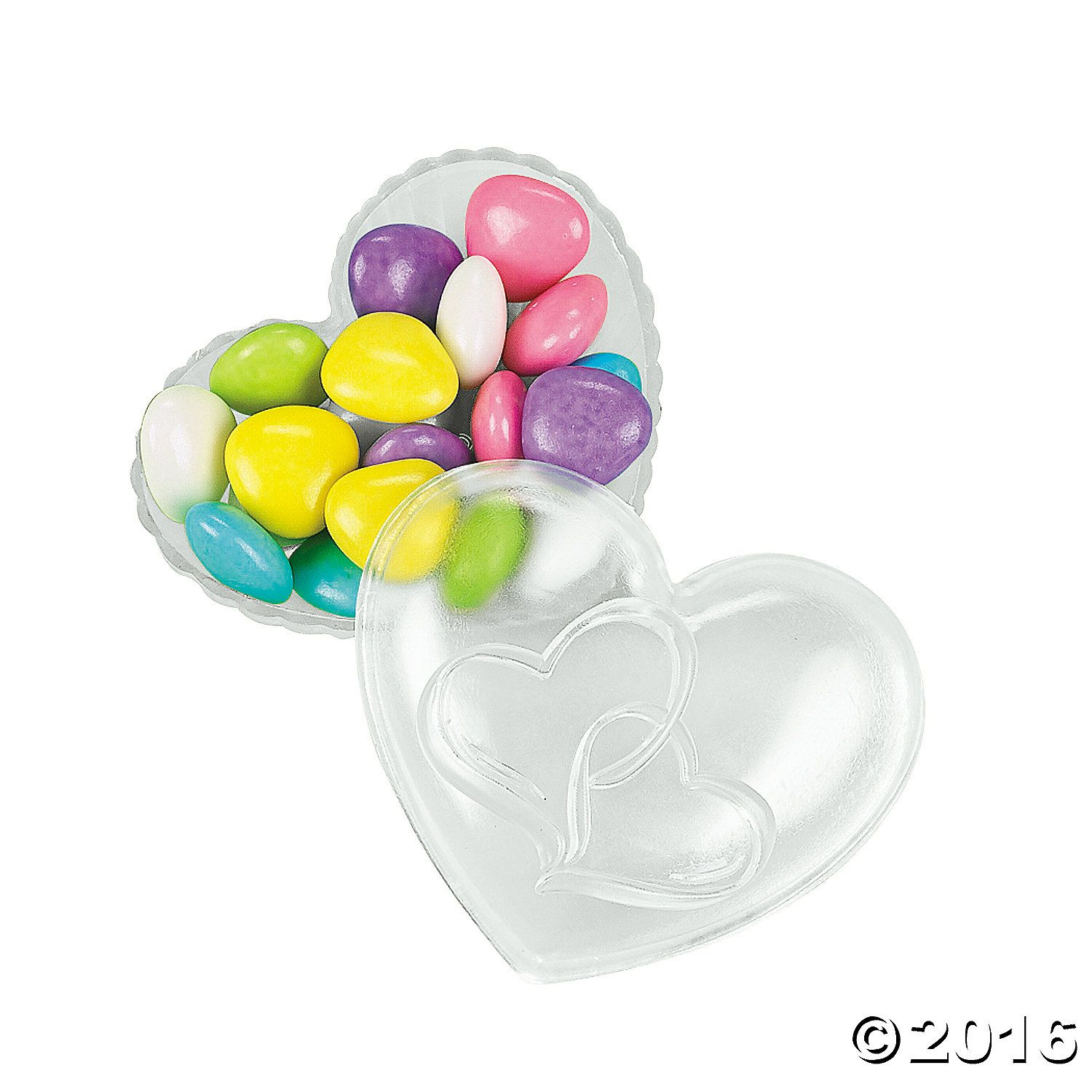 Two Hearts Heart-Shaped Favor Boxes - OrientalTrading.com