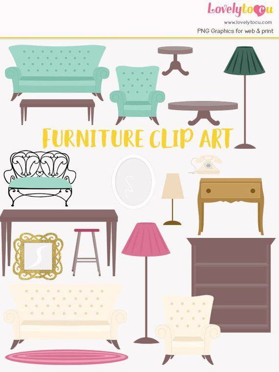 Furniture Clipart House Furnishings Interior Decorating