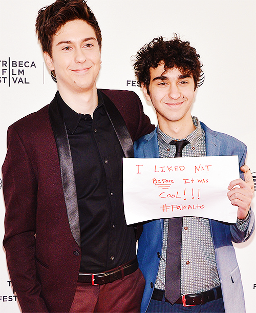 Nat Wolff and Alex Wolff | NY Blue Carpet Premiere of