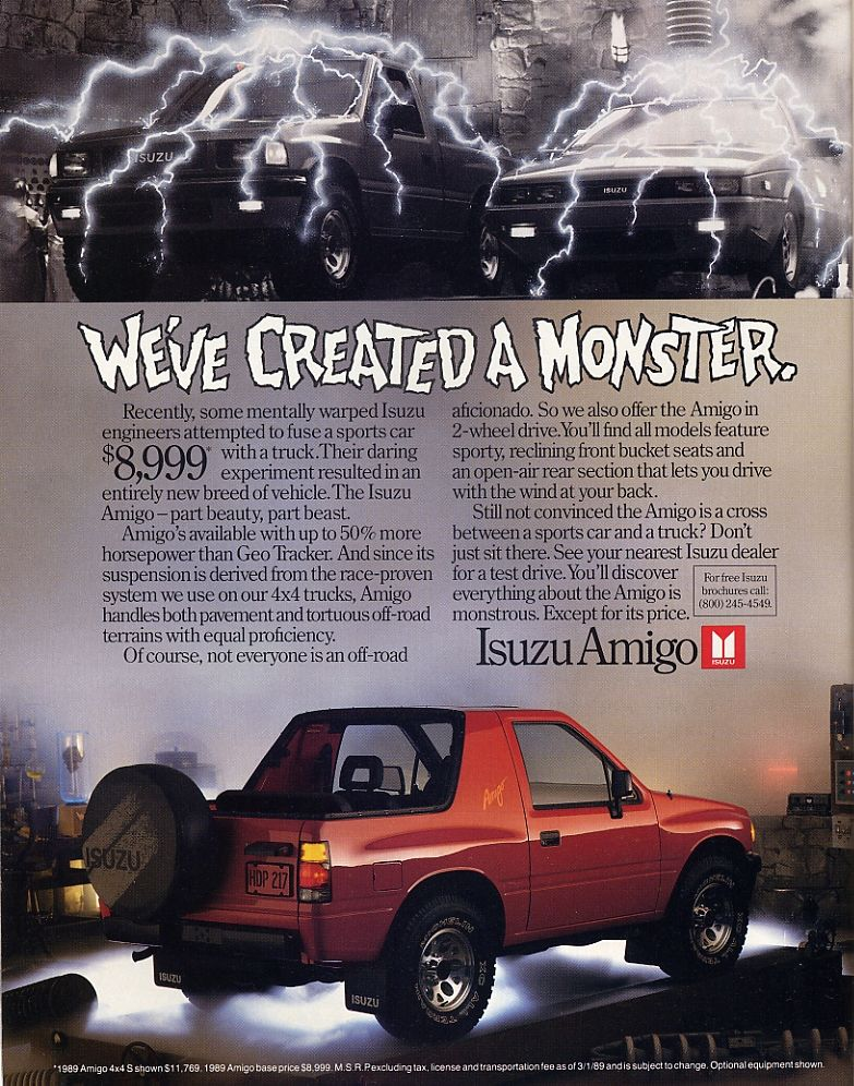 gen 1 isuzu amigo | Trucks that look like toys  | Car, Van