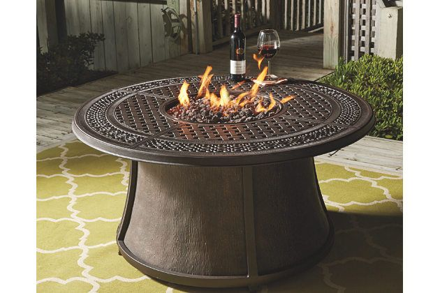 Burnella Outdoor Round Chat Fire Pit Table Would Love A Fire Pit With Tall Outdoor Light Fixtures Gas Fire Pit Table Round Fire Pit Table Affordable Fire Pit