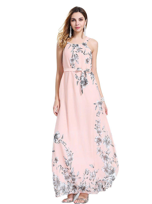 c83f925b1045e Shmily Girl Women's Plus Size Dress Bohemia Floral Chiffon Dress Beach Maxi  Dress ...: Amazon Fashion