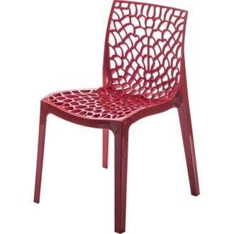 Chaise De Jardin En Resine Grafik Rouge Chaise De Jardin Chaise Plexiglas Chaise