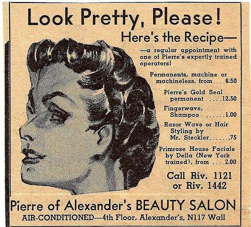 Alexanders Beauty Salon 1941