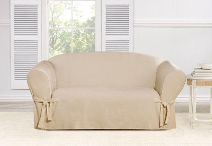 sure fit chenille one piece sofa