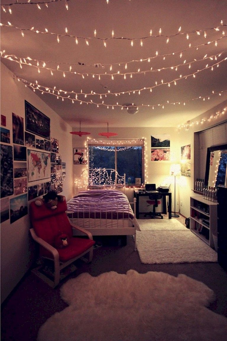 32 Awesome Diy Apartment Decorating Christmas Lights Apartment Decor Dorm Room Decor Dream Rooms