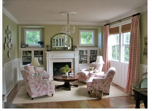 French Country Living Room Conversation Area