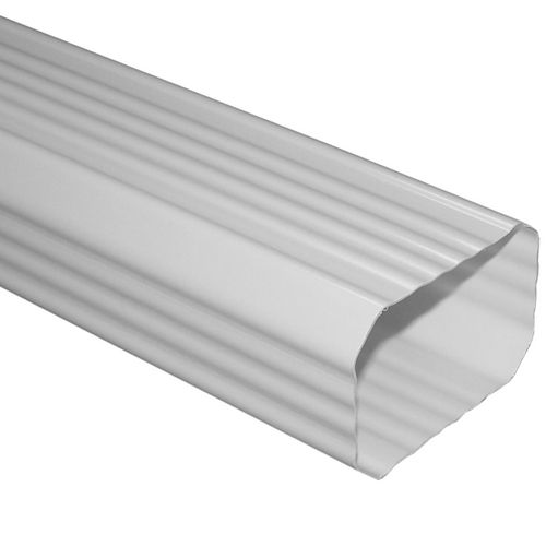 Zoomed Severe Weather 10 X 2 X 3 White Downspout Vinyl Gutter White Vinyl Vinyl Gutter Downspout