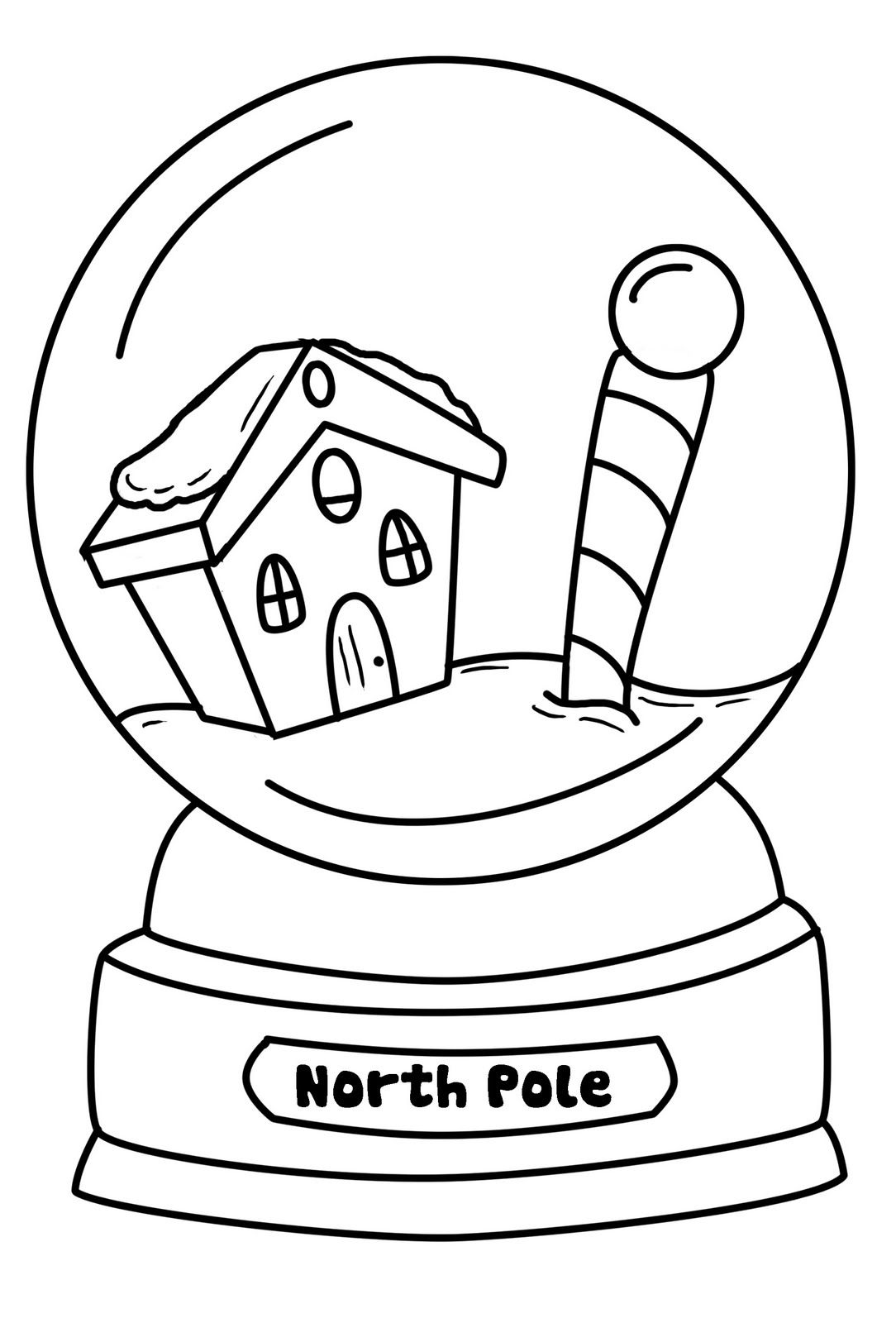 Snowglobe Coloring Pages Best Coloring Pages For Kids in