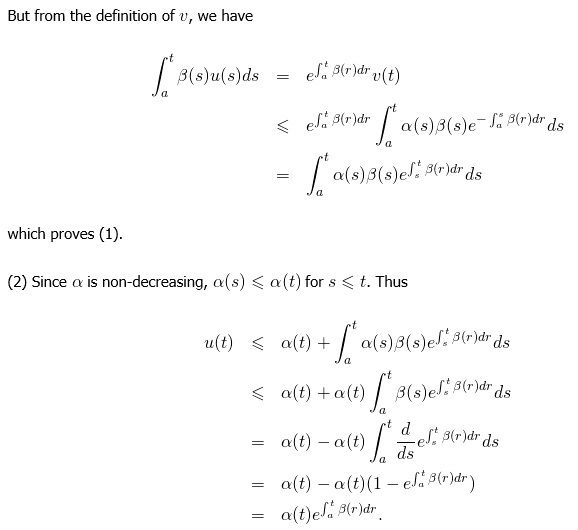 A Simple Proof Of Gronwall S Inequality Math Mathematics Gronwall Inequality Proof Studying Math Inequality Mathematics