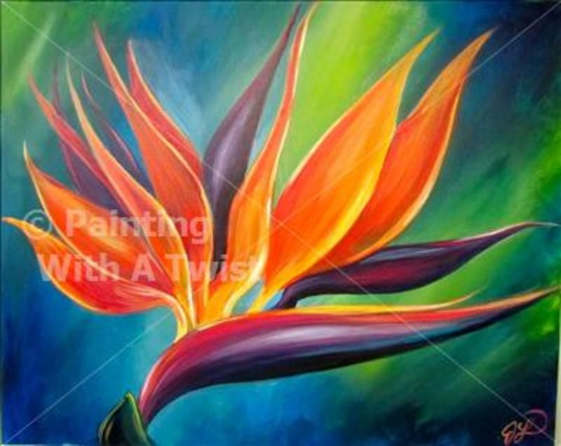 Bird Of Paradise Paradise Painting Art Painting Flower Painting
