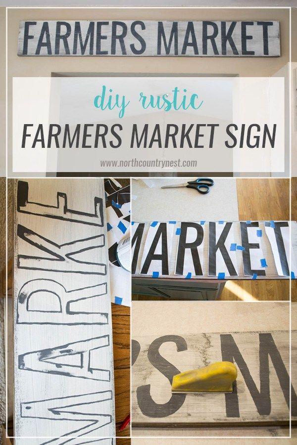 Diy Rustic Farmers Market Sign Diy Home Decor Pinterest Wooden