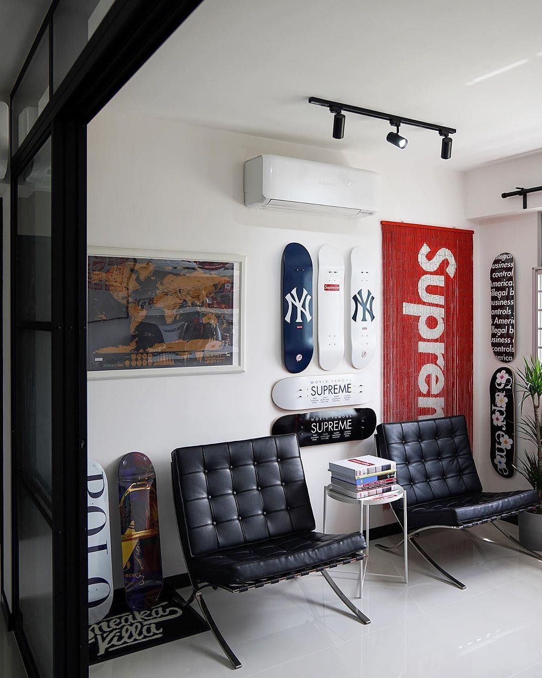 Supreme On Instagram Drop An Emoji Which Best Describes This Room Photo 65upreme In 2020 Hypebeast Room Mens Room Decor Home Room Design