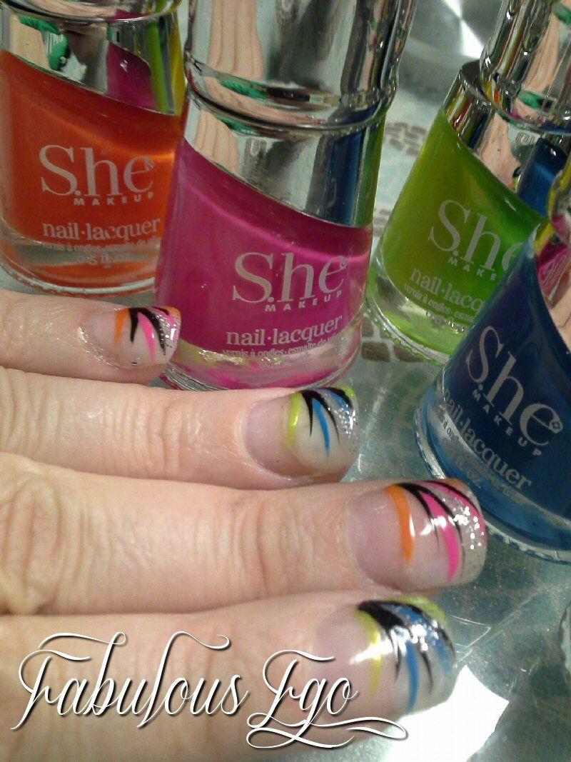 diy #nailpolish #manicure #colorful #summer #design #fakenails ...