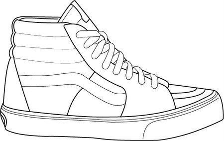 a5ad6436cdb 28+ Collection of Vans Sk8 Hi Drawing ... | Shoes | Kleding ...