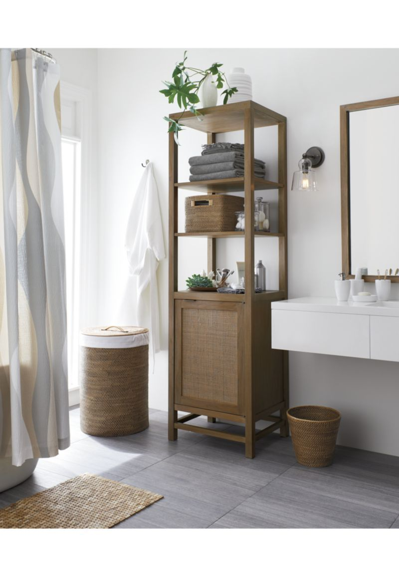 Blake grey wash tall cabinet crate and barrel beach - Crate and barrel bathroom vanities ...