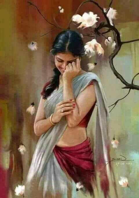 Beautiful Painting Indian Art Paintings Woman Painting Indian Art
