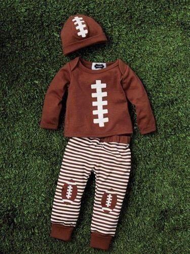 dc56cea79d0f9 Mud Pie Baby Boy Football Take Me Home 3 Piece Set 0 3 Months