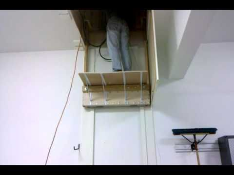 Home made elevator to attic youtube idea traffic for Diy elevator plans