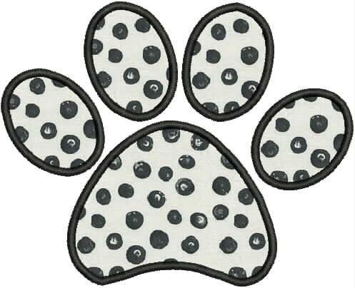 Dog Paw Print Applique Embroidery Design 4x4 5x7 Bernina Brother Pfaff Husqvarna and More by StitchesByGeriAnn on Etsy